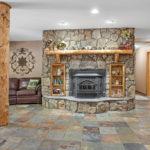 Rental Cabin 18 Fireplace